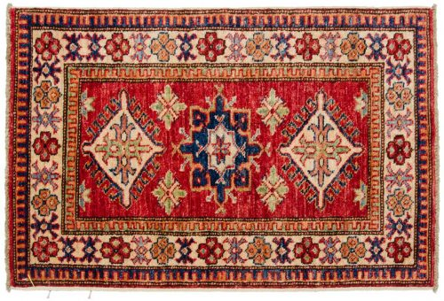 2×3 Kazak Red Oriental Rug 046457