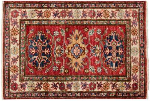 2×3 Kazak Red Oriental Rug 048853