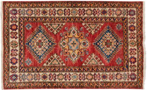 2×3 Kazak Red Oriental Rug 048854