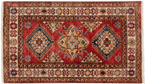 2×3 Kazak Red Oriental Rug 048855