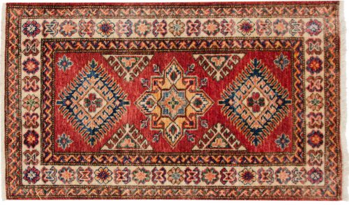 2×3 Kazak Red Oriental Rug 048856