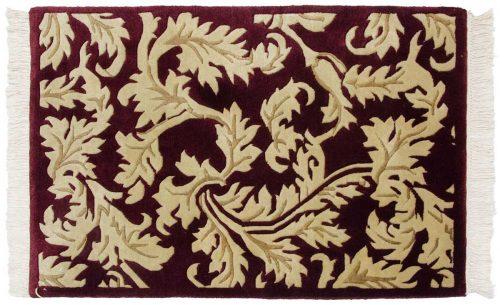 2×3 Leaf Burgundy Oriental Rug 037169