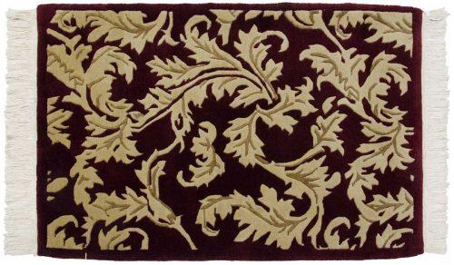 2×3 Leaf Burgundy Oriental Rug 037349
