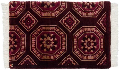 2×3 Octagon Burgundy Oriental Rug 036708