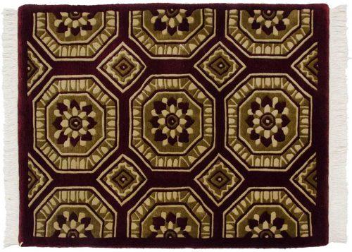 2×3 Octagon Burgundy Oriental Rug 037124