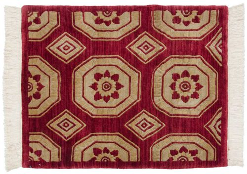 2×3 Octagon Burgundy Oriental Rug 038104