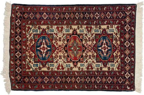 2×3 Persian Ardebil Beige Oriental Rug 022871