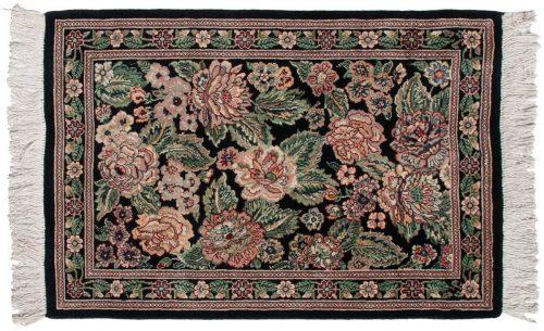 2×3 Persian Black Oriental Rug 025803