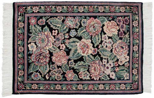 2×3 Persian Black Oriental Rug 025987