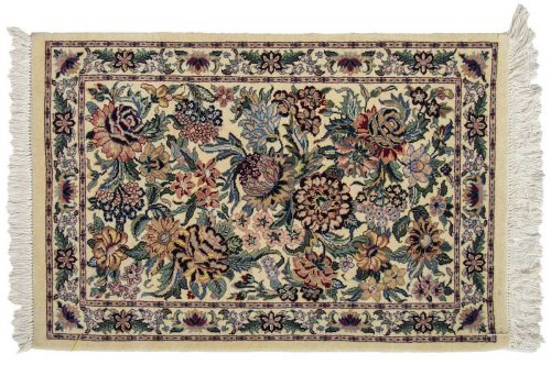 2×3 Floral Bouquet Ivory Oriental Rug 025772