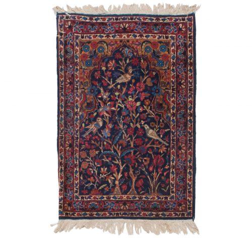 2×3 Persian Kerman Blue Oriental Rug 011313