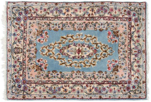 2×3 Persian Kerman Blue Oriental Rug 017304