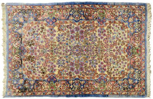 2×3 Persian Kerman Ivory Oriental Rug 011381