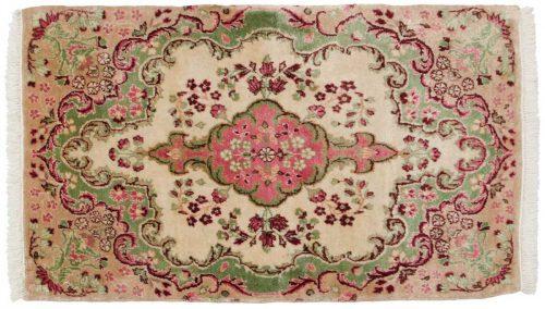2×3 Persian Kerman Ivory Oriental Rug 026380