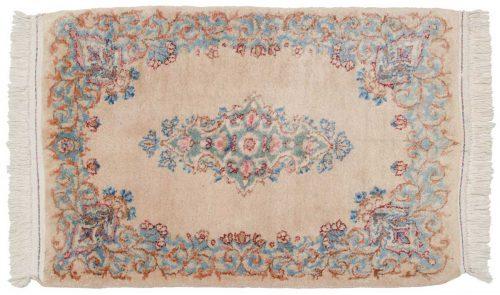 2×3 Persian Kerman Peach Oriental Rug 017372