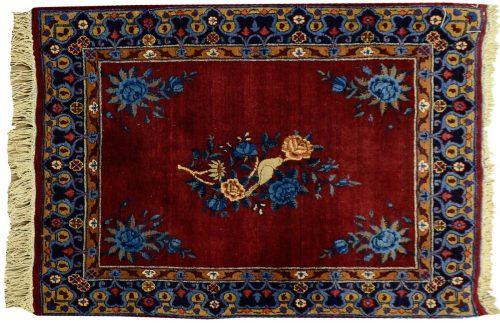 2×3 Persian Kerman Red Oriental Rug 011314