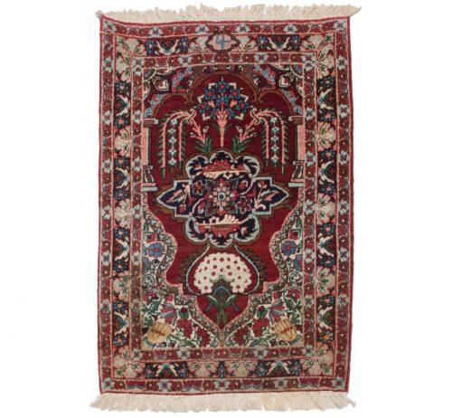 2×3 Persian Kerman Rose Oriental Rug 011228