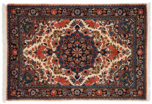 2×3 Persian Malayer Ivory Oriental Rug 014243