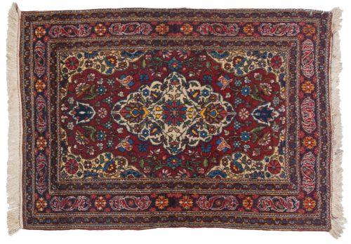 2×3 Persian Veramin Rose Oriental Rug 011236