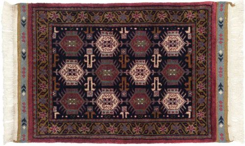 2×3 Saddlebag Blue Oriental Rug 036863
