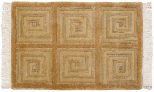 2×3 Modern Gold Oriental Rug 037016