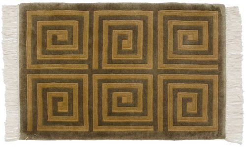 2×3 Modern Green Oriental Rug 037399