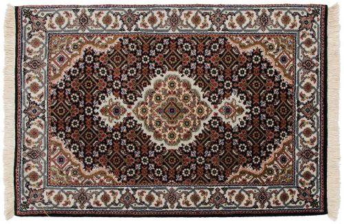 2×3 Tabriz Black Oriental Rug 045671