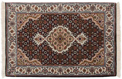 2×3 Tabriz Black Oriental Rug 045673