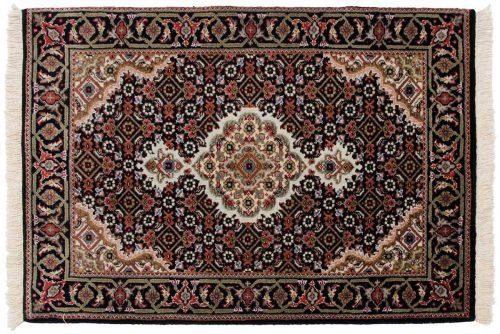 2×3 Tabriz Black Oriental Rug 045676