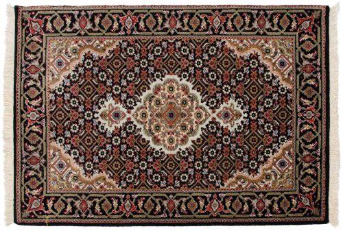 2×3 Tabriz Black Oriental Rug 045677