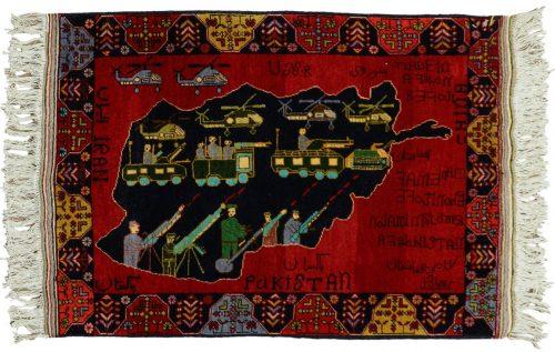 2×3 War Red Oriental Rug 030337