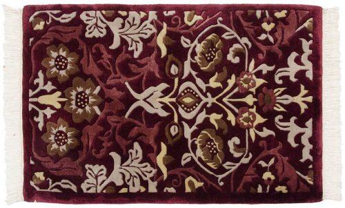 2×3 William Morris Burgundy Oriental Rug 037191