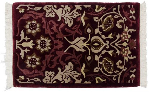 2×3 William Morris Burgundy Oriental Rug 037193