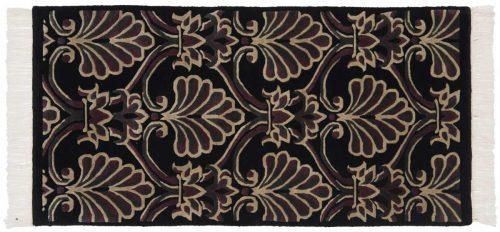 2×4 Arts & Crafts Black Oriental Rug 038004