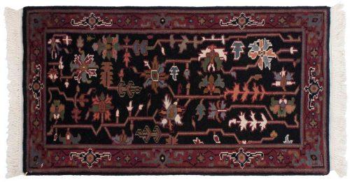 2×4 Heriz Black Oriental Rug 037046