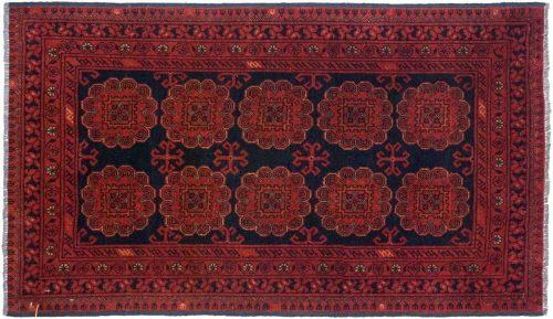 2×4 Khal Mohmd Black Oriental Rug 044927