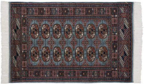 2×4 Bokhara Blue Oriental Rug 021814