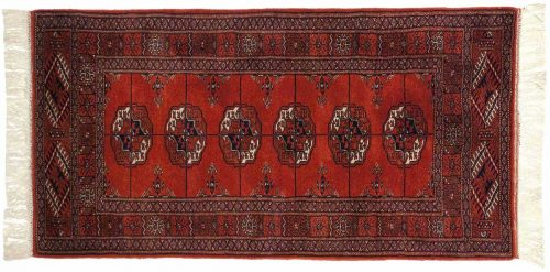 2×4 Bokhara Red Oriental Rug 021597