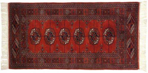 2×4 Bokhara Red Oriental Rug 021597