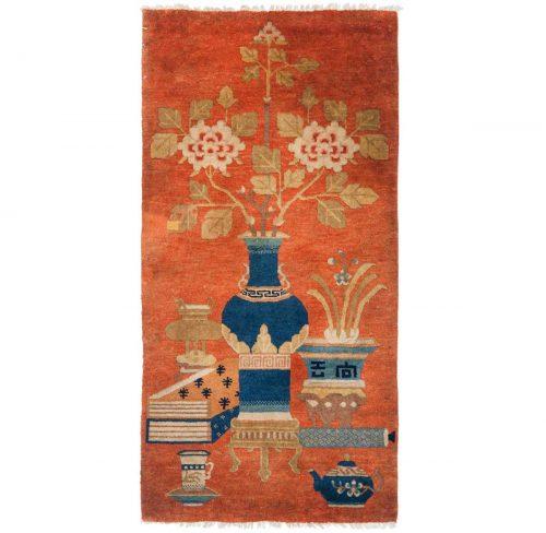 2×4 Chinese Rust Oriental Rug 021385
