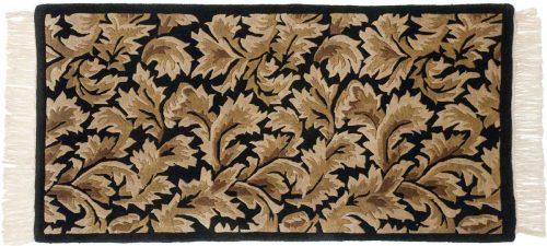 2×4 Leaf Black Oriental Rug 038003