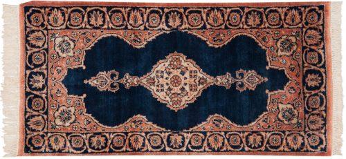 2×4 Persian Kerman Blue Oriental Rug 011227