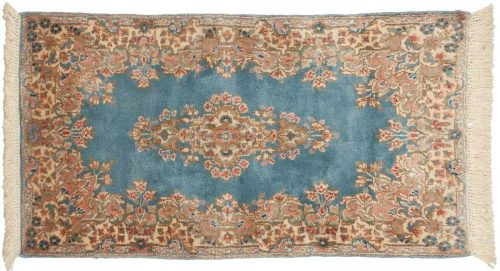 2×4 Persian Kerman Blue Oriental Rug 012165