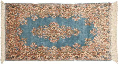 2×4 Persian Kerman Blue Oriental Rug 012165
