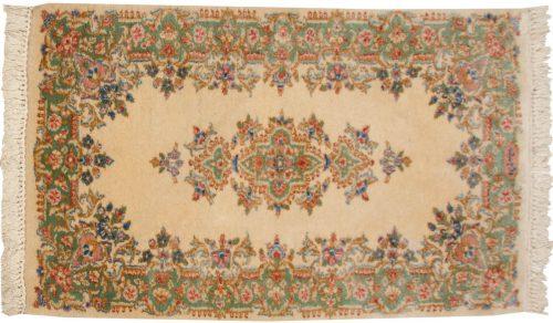 2×4 Persian Kerman Ivory Oriental Rug 012308