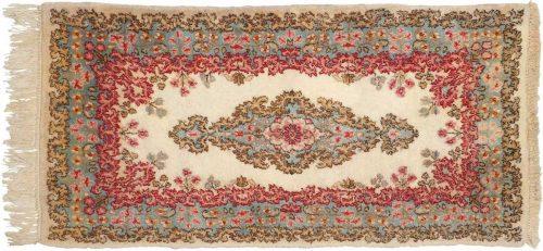2×4 Persian Kerman Ivory Oriental Rug 026482