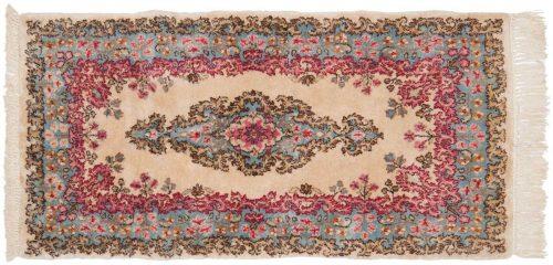 2×4 Persian Kerman Ivory Oriental Rug 026483