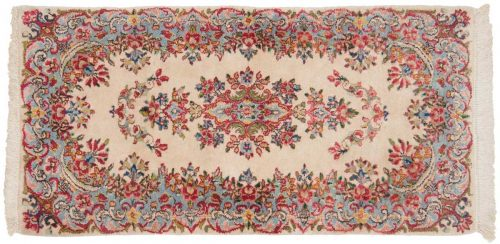 2×4 Persian Kerman Ivory Oriental Rug 026499