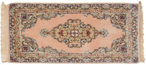 2×4 Persian Kerman Peach Oriental Rug 017321
