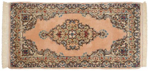 2×4 Persian Kerman Peach Oriental Rug Runner 017322